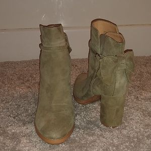 Banana Republic Shoes - Olive Bow-back Booties